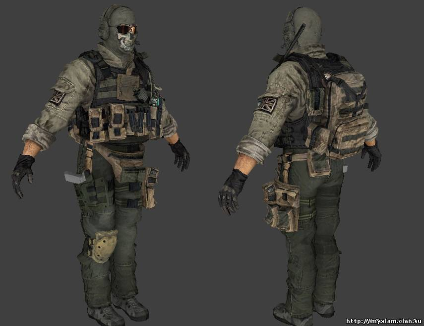 Ghost from Modern Warfare 2 [скин для админа]...